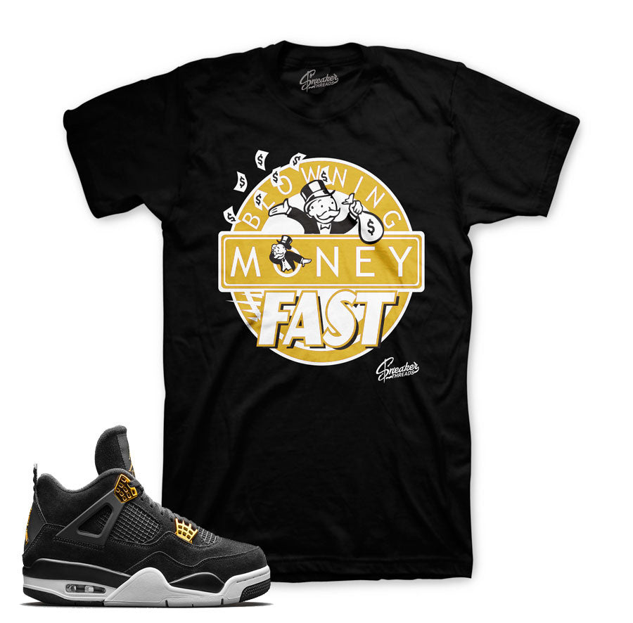 Jordan 4 royalty tees match shoes. Bobby fresh sneaker tees.