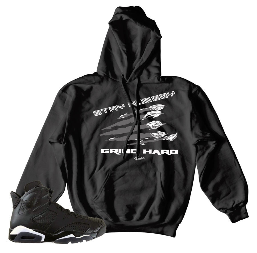 official photos dc985 8a526 Home Jordan 6 Black Cat Hoody - Stay Hungry - Black. Share