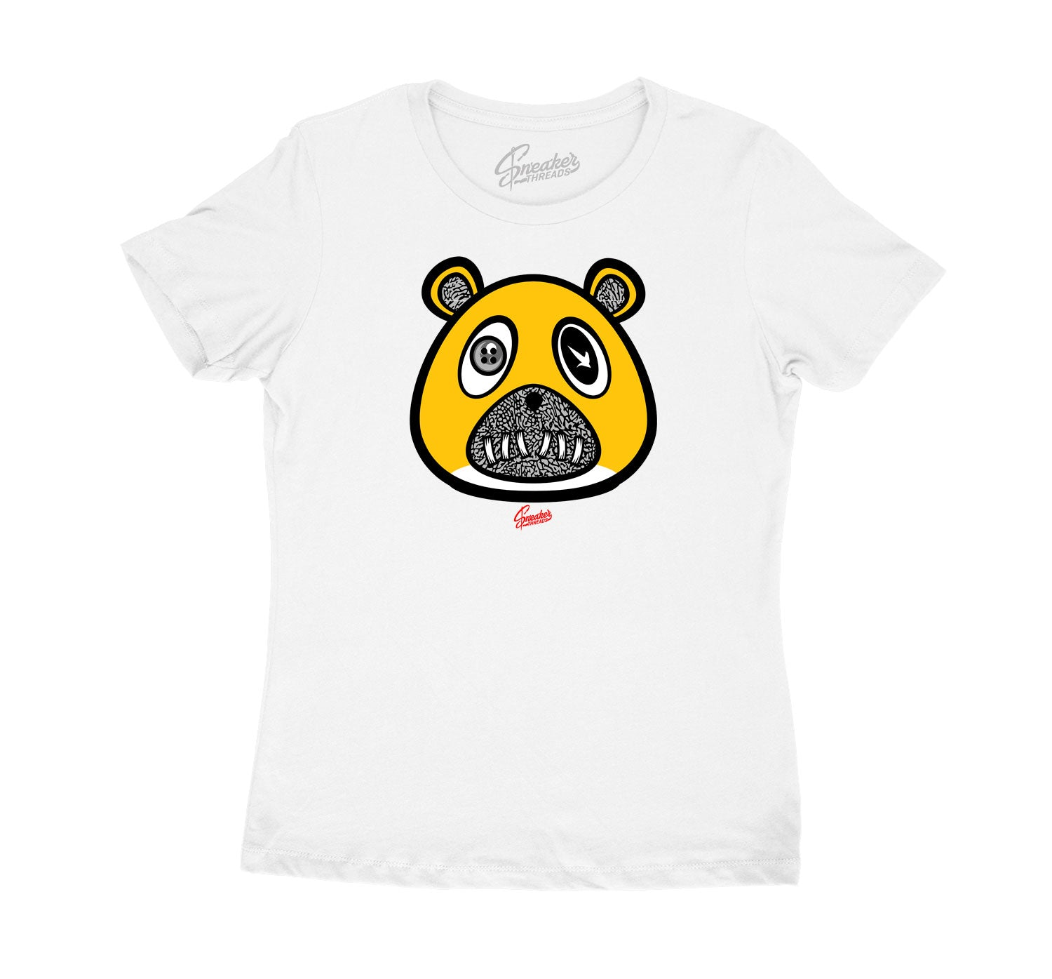 Womens Cool Grey 3 Shirt - ST Bear - White