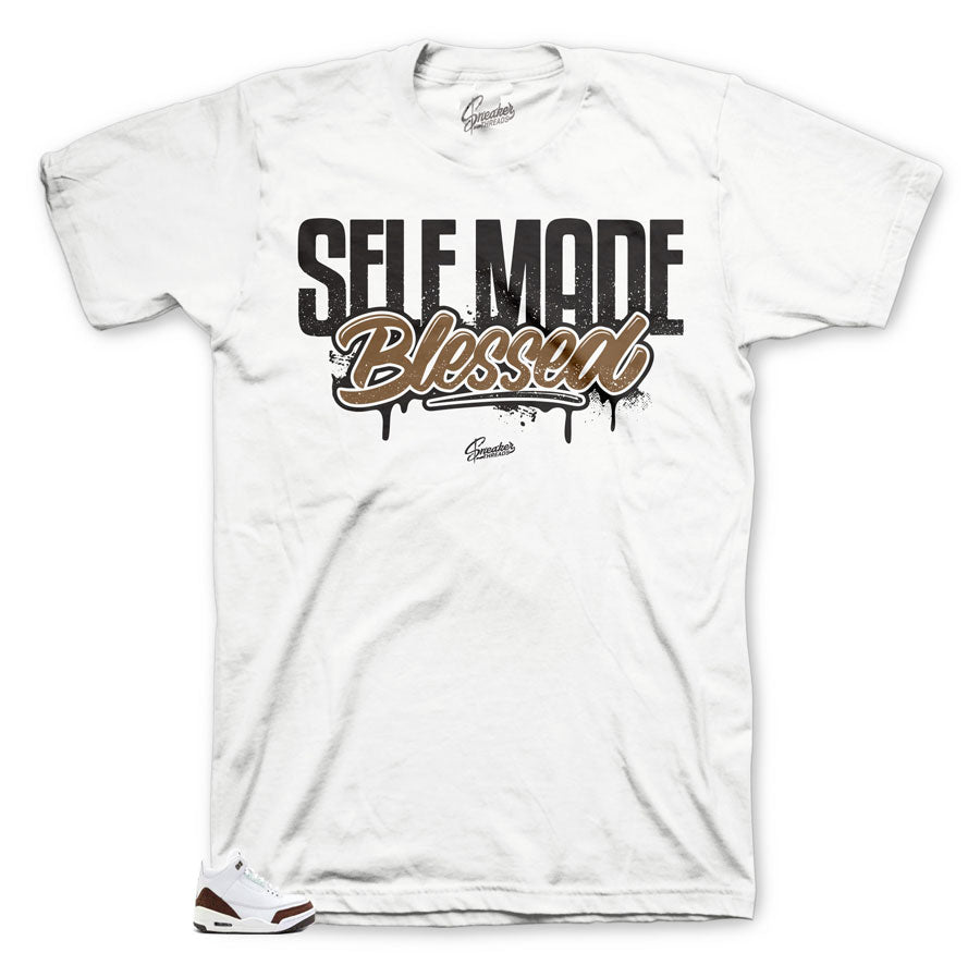 Chocolate white  mocha shirts to match Jordan 3 Mocha