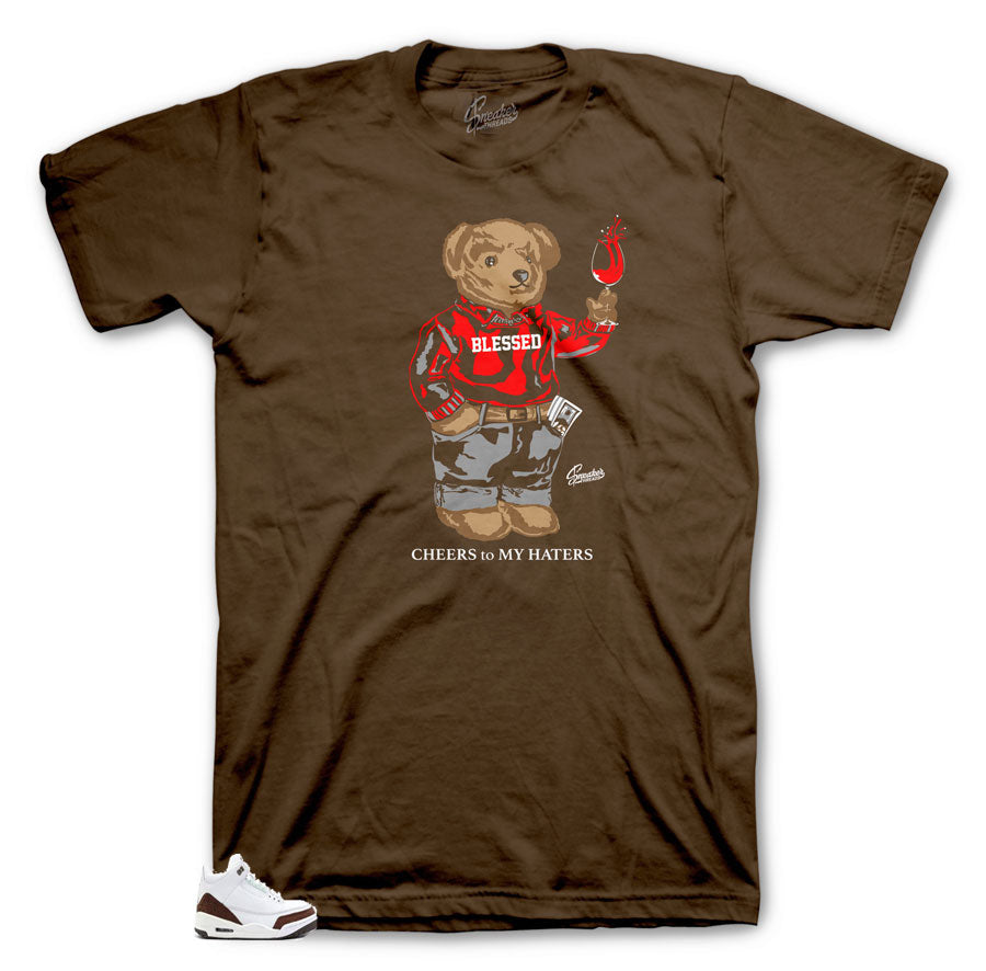 Jordan 3 Mocha Cheers bear tee collection