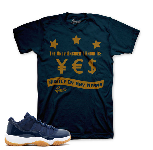 Jordan 11 Navy Shirt - Answer- Navy