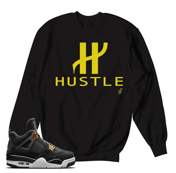 Jordan 4 Royalty Sweater - Big H - Black
