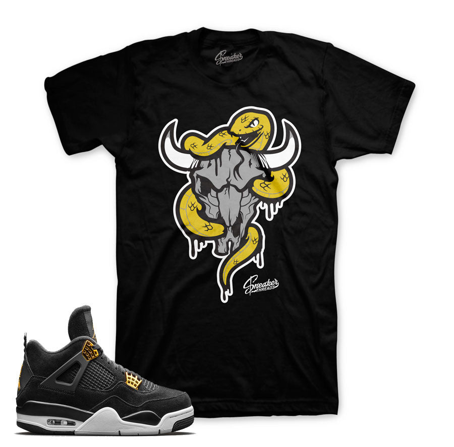 Jordan 4 royalty tees match shoes. Fresh new sneaker tees.