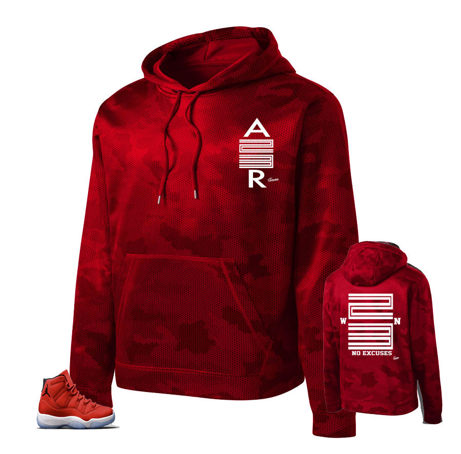Camo hoody match Jordan 11 win like 96 hoody to match gym red 11's.