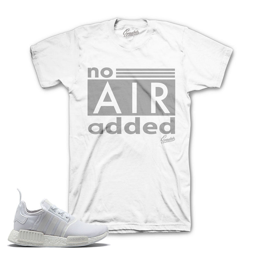 Adidas NMD R1 Triple White Core Shirts | Triple white tee