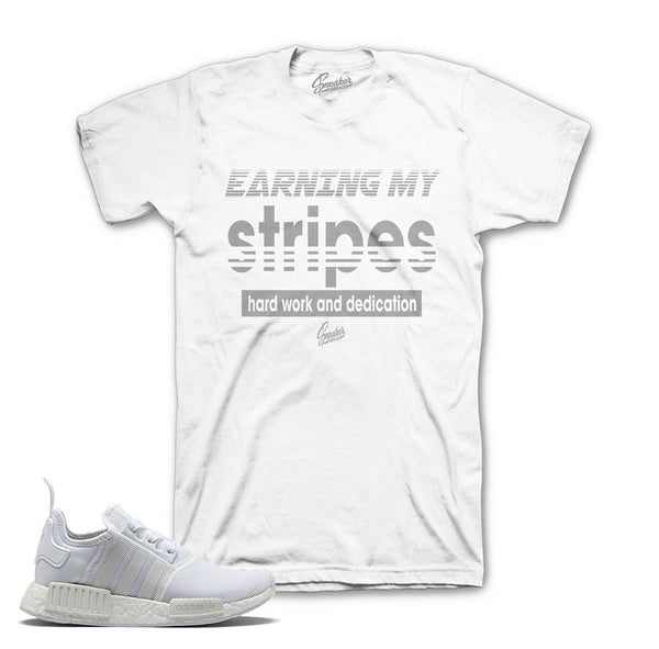 NMD Monochrome Shirt - Earning Stripes - White