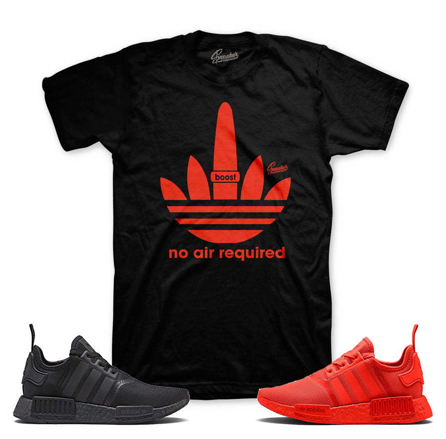 NMD monochrome official matching shirts | Solar Red Tees