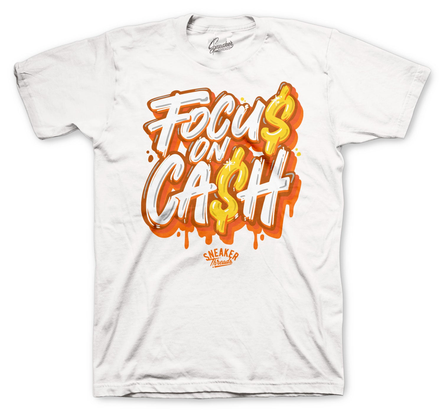Jordan 4 Orange Metallic Shirt - Focus on $ - White