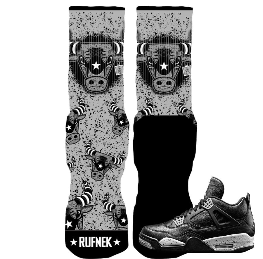 Jordan 4 Oreo Elite Socks - War Bully Socks