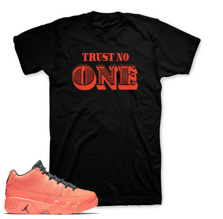 Tees match Jordan 9 bright mango retro 9's sneaker shirts.