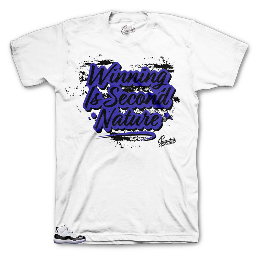 Jordan 11 official concord shoes matching shirts