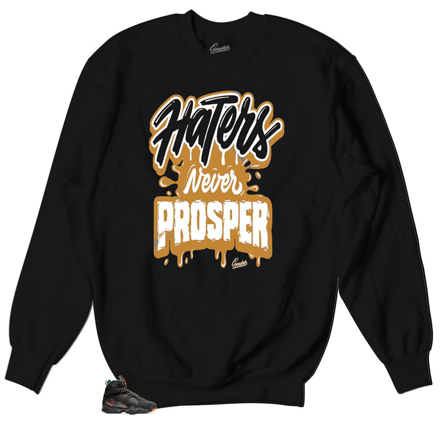 Crewneck sweater collection made to match the Jordan 4 retro black gum sneakers