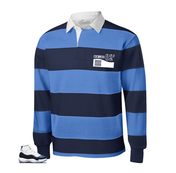 Jordan 11 Win Like 82 Rugby Shirt - Shoe Box - Blue