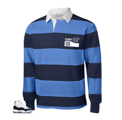 Rugby shirt match Jordan 11 win like 82 shoes.