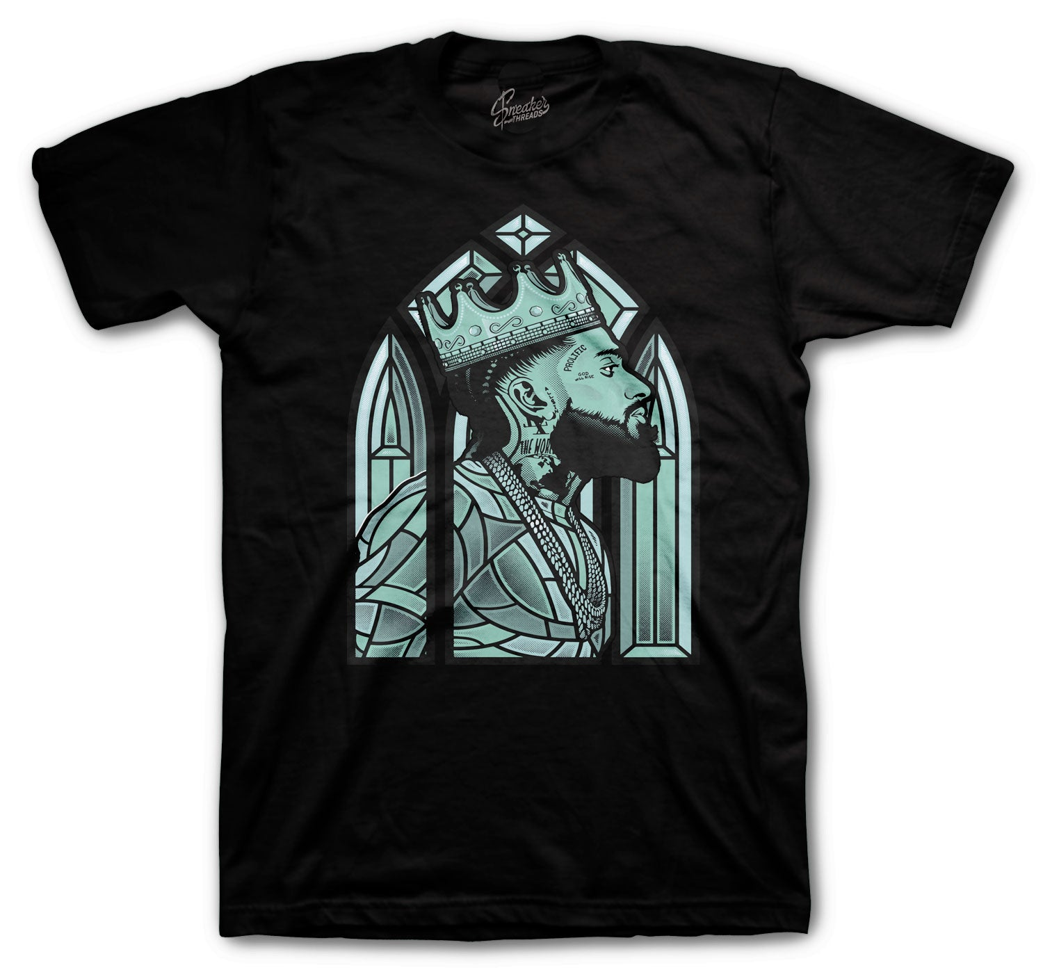 Jordan 12 Easter Shirt - Nip Glass - Black