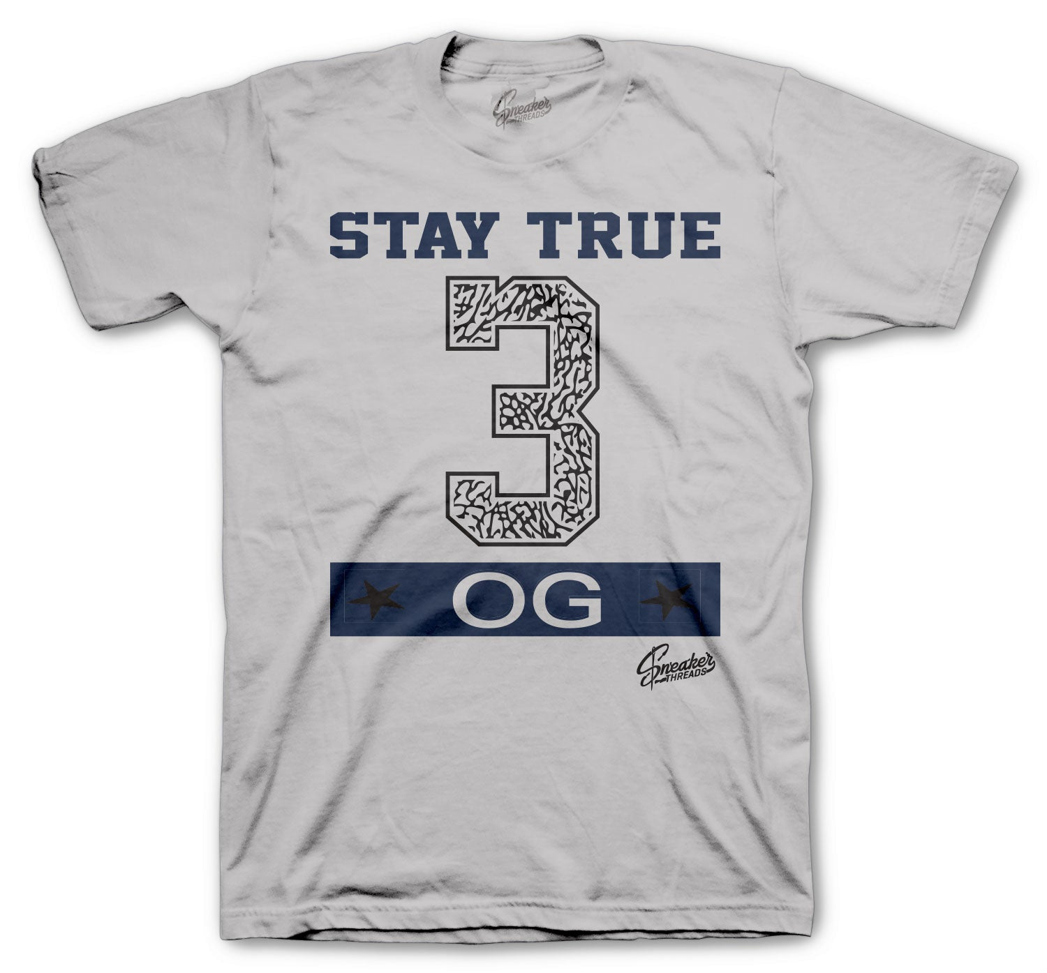 guys tees to match with Jordan 3 midnight navy sneaker collection