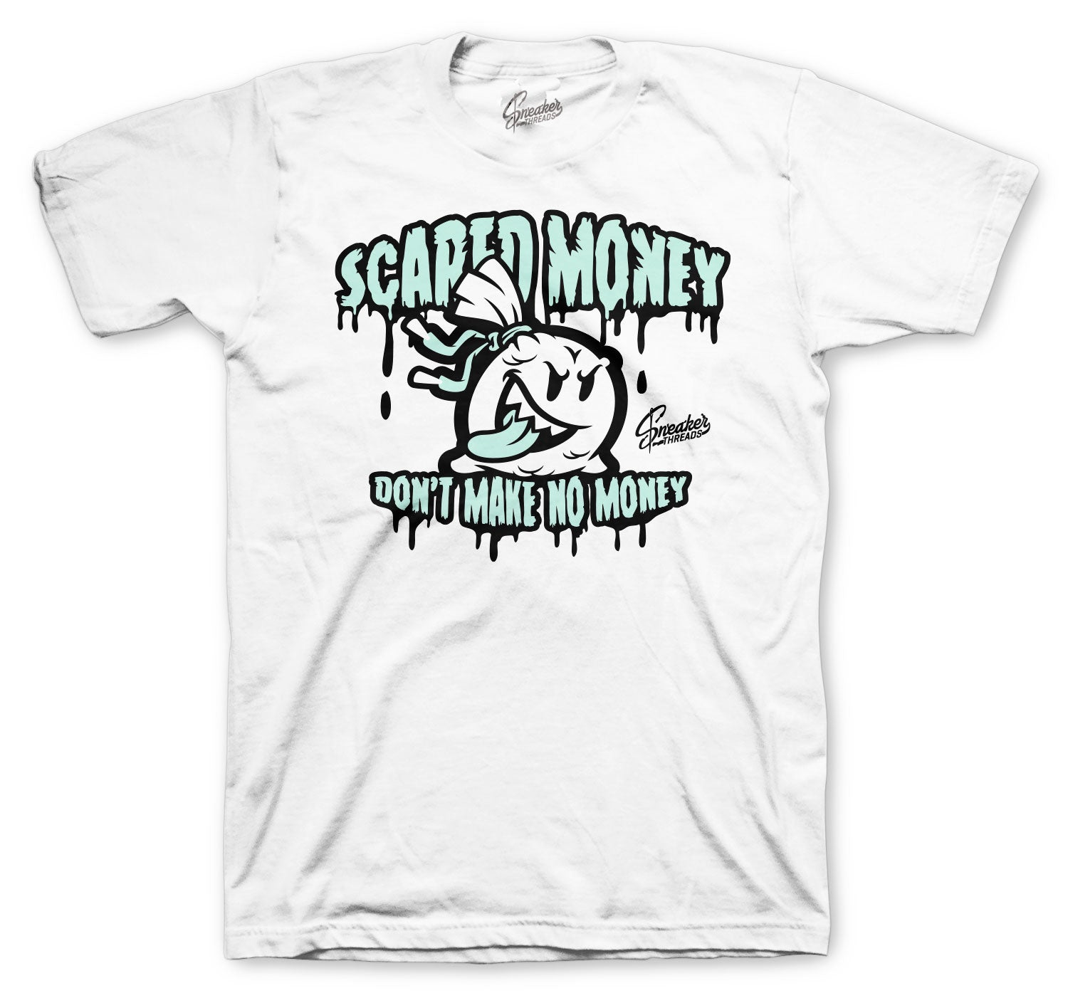 Jordan 12 Easter Shirt - Scared Money - White