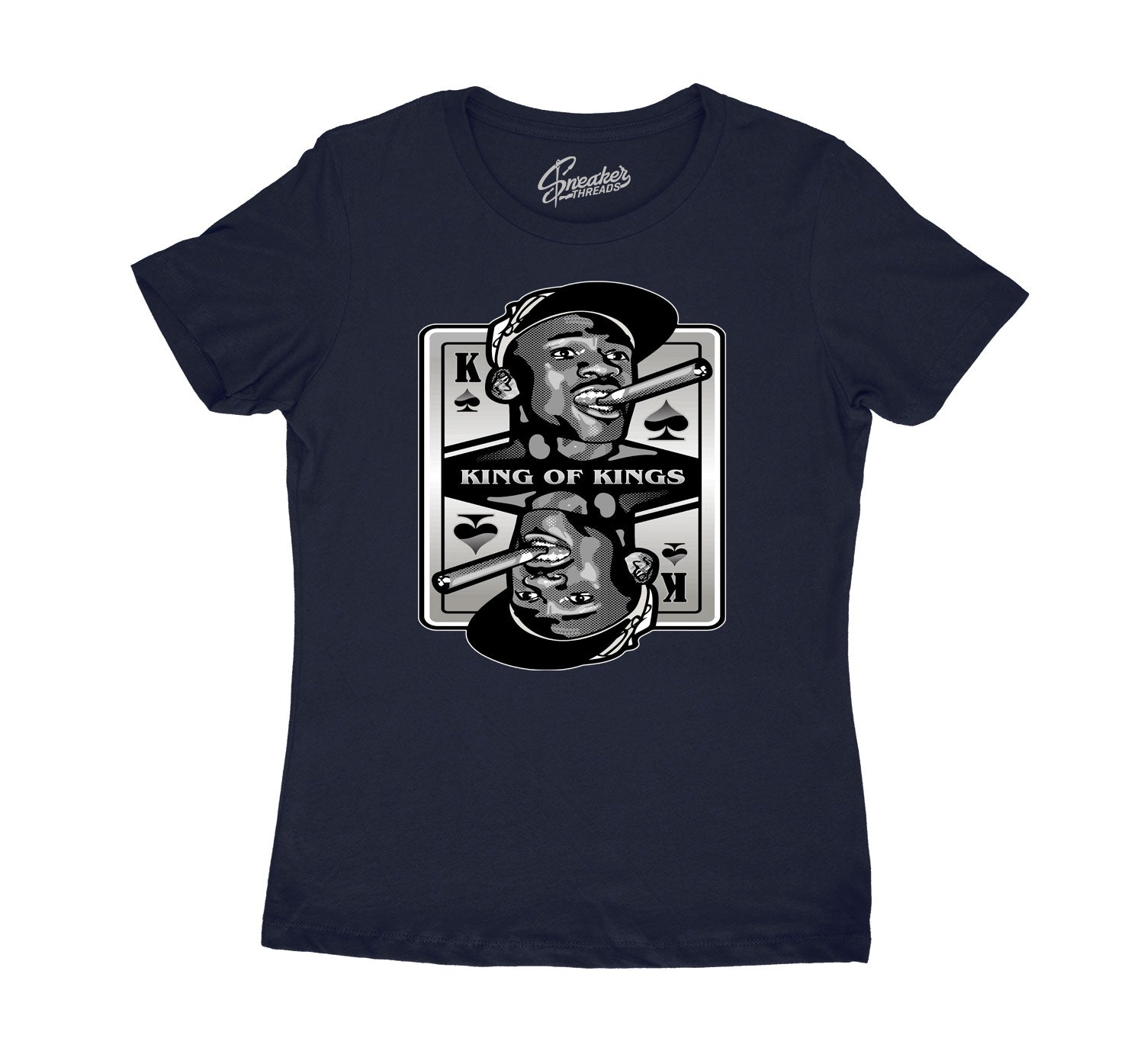Womens tee collection to match the Jordan 3 midnight navy sneaker collection