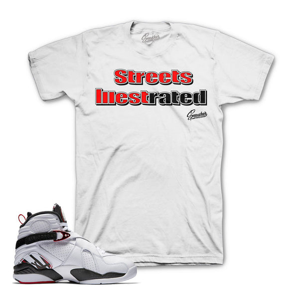 Jordan 8 Alternate Shirt - Illest Rated - White