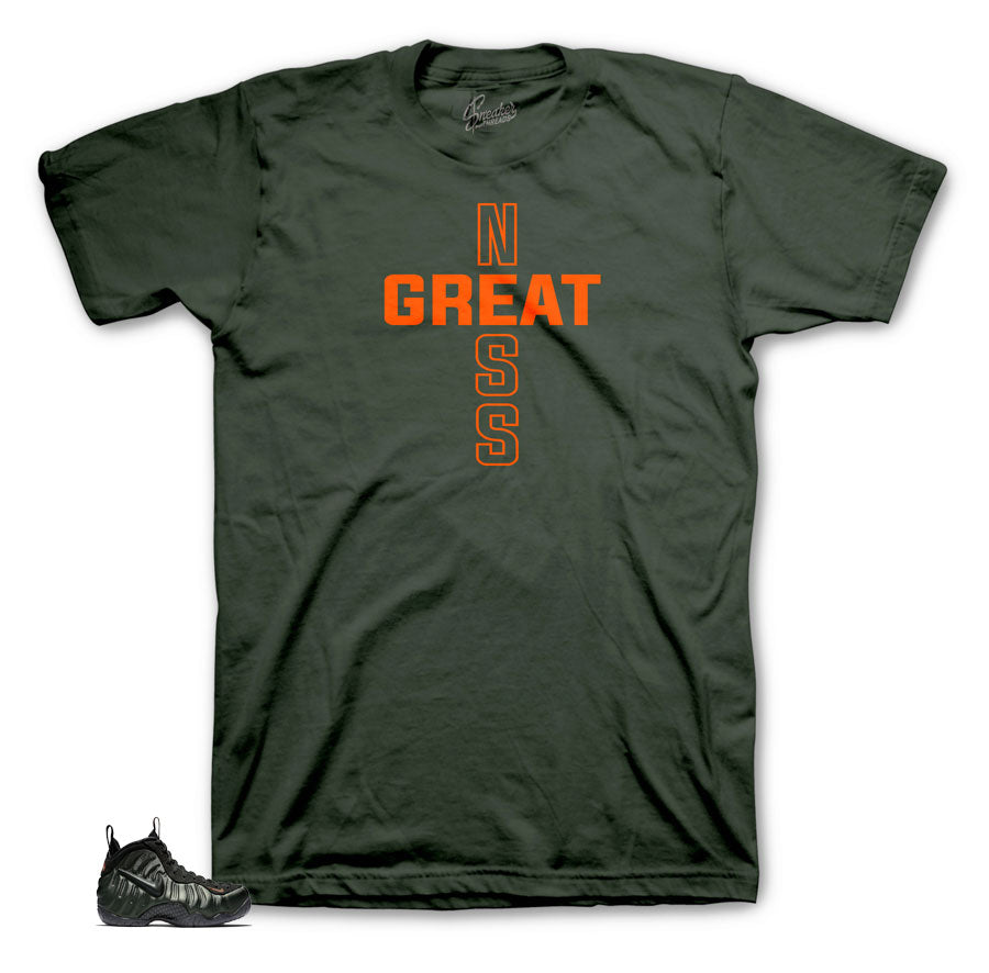 Sneaker threads clothing collection of tees to match foam sequoia.