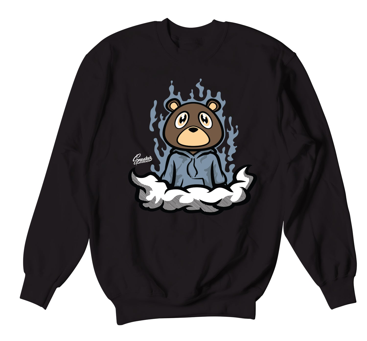 Yeezy Ash Blue 350 Sweater - Fly Bear - Black