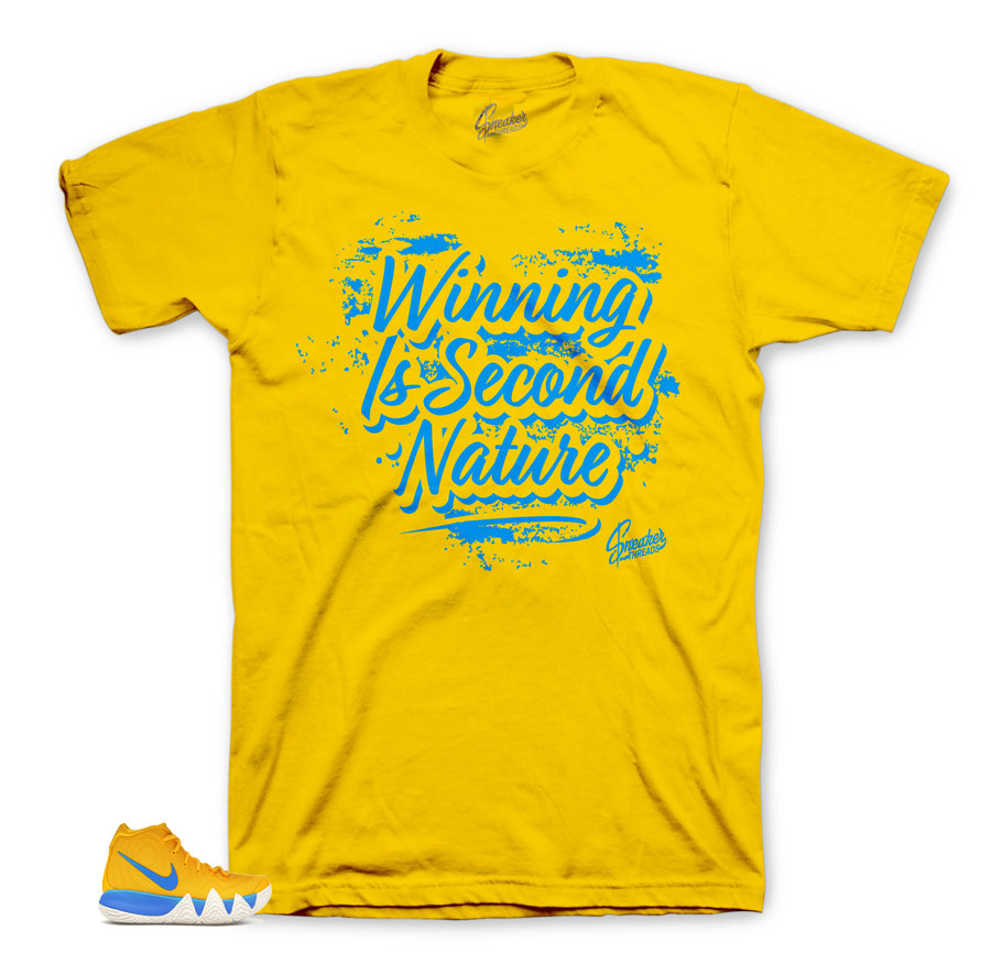 Yellow second nature matching shirt for Kyrie Kix Collection