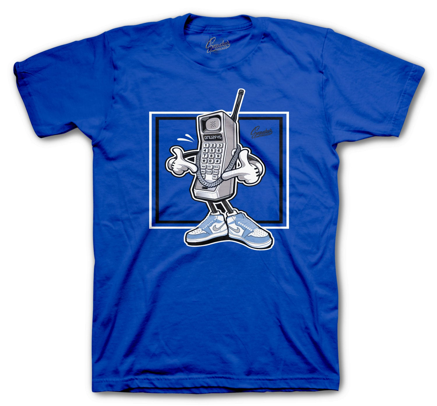 Jordan 1 Hyper Royal Shirt - Hustle Phone - Royal