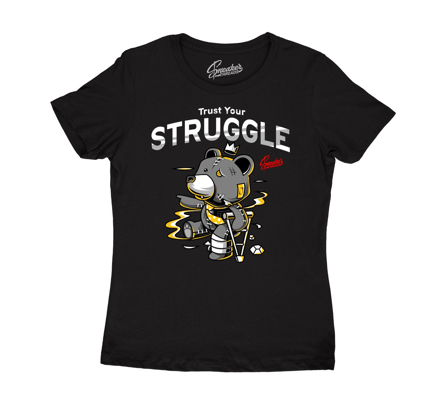 Womens  Cool Grey 3 Shirt - Trust Your Struggle - Black
