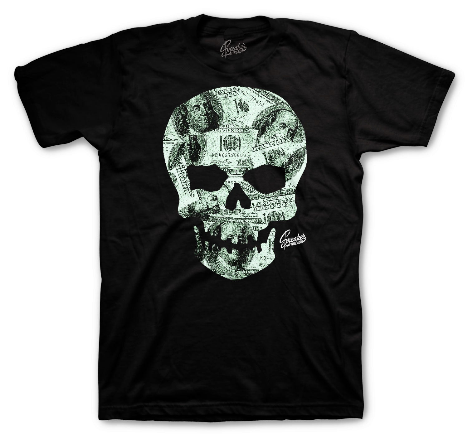 Barely Green All Star Shirt - Money Skull - Black