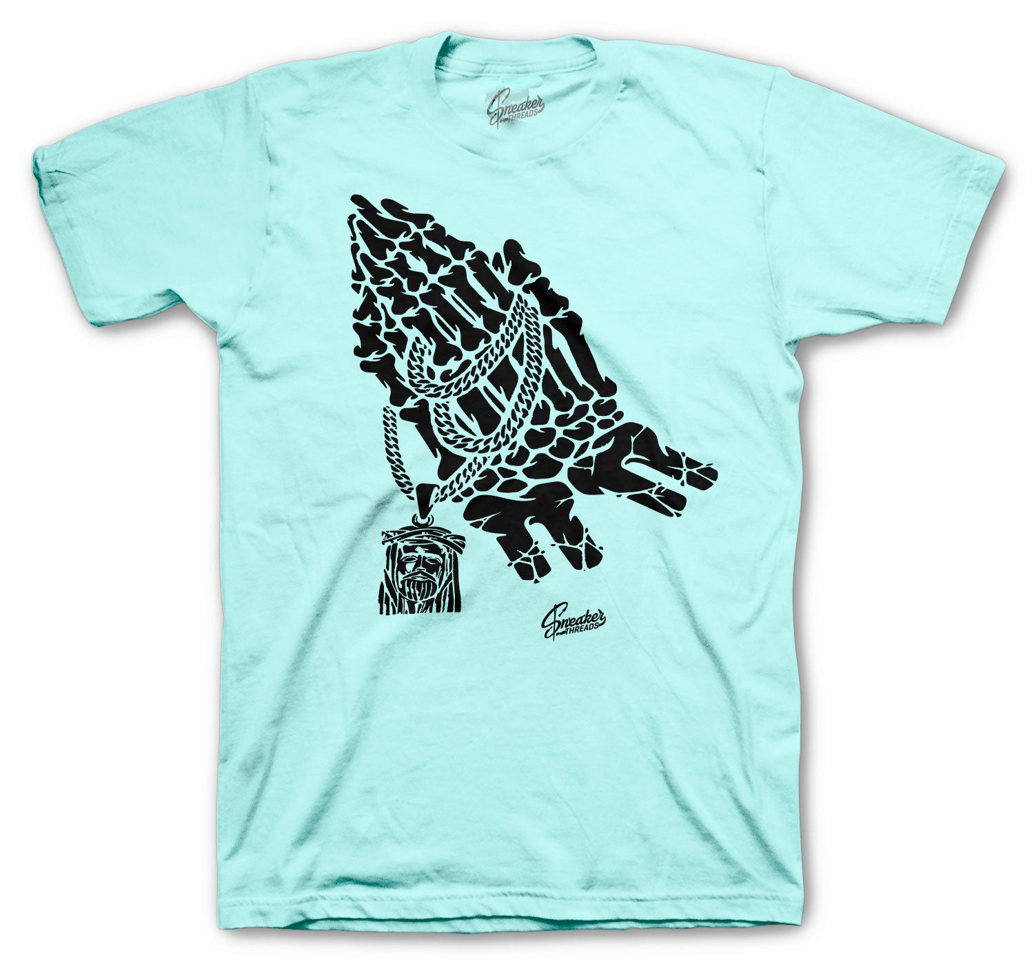 Jordan 12 Easter Shirt - Praying Hands - Green