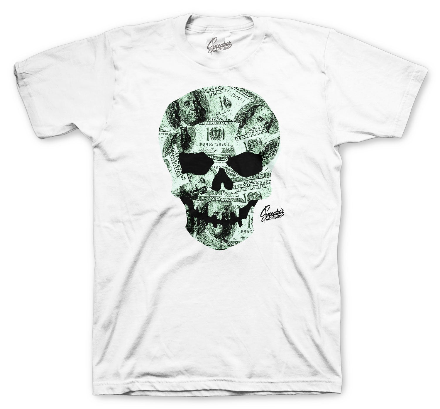 Jordan 12 Easter Shirt - Money Skull - White