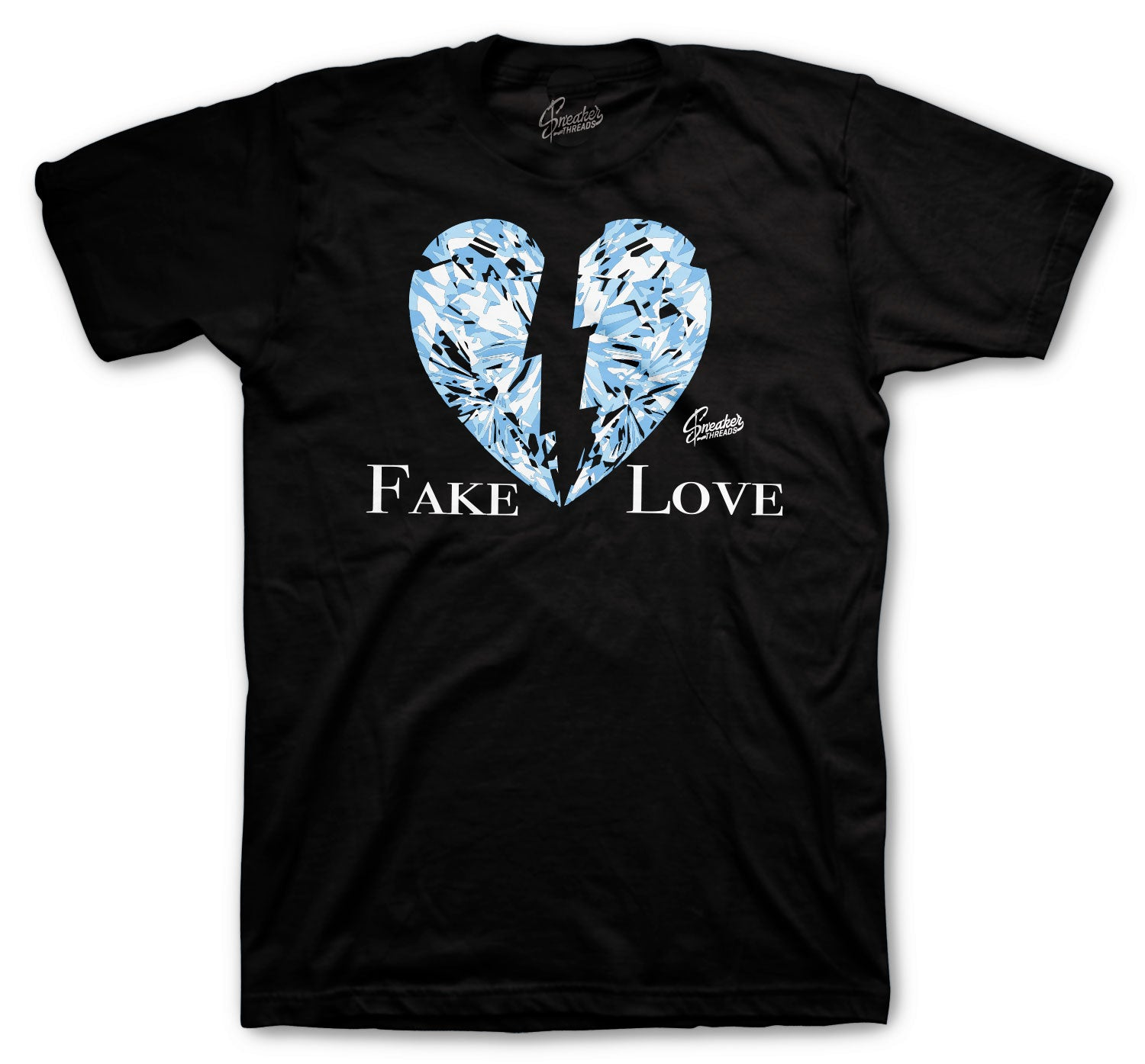 Jordan 1 Uni Blue Shirt - Fake Love - Black