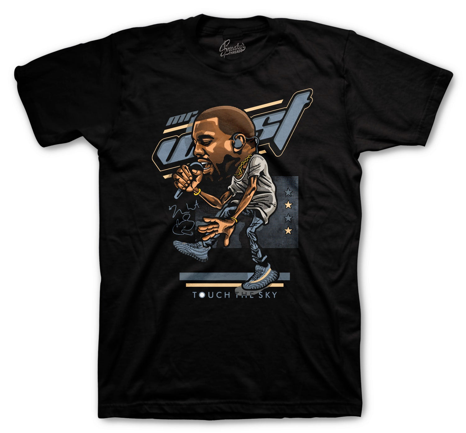 Yeezy Ash Blue 350 Shirt - Touch The Sky - Black