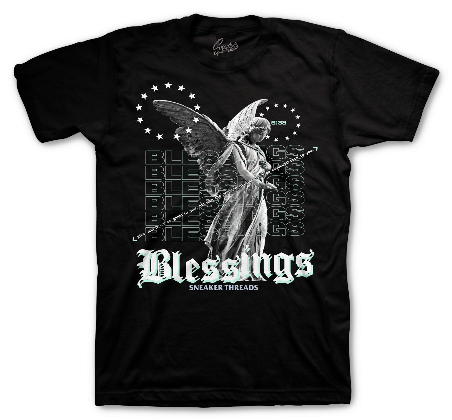 Jordan 12 Easter Shirt - Angel Blessings - Black