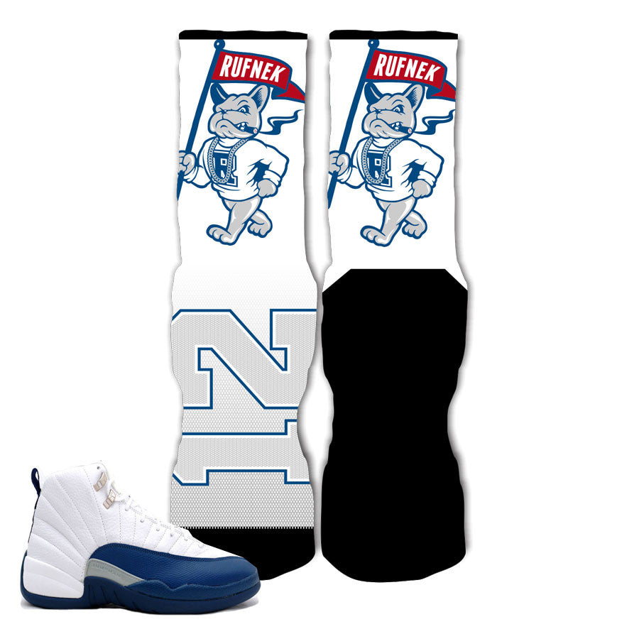 0c165f0d4570f0 Elite socks match Jordan 12 French Blue retro 12 s socks.