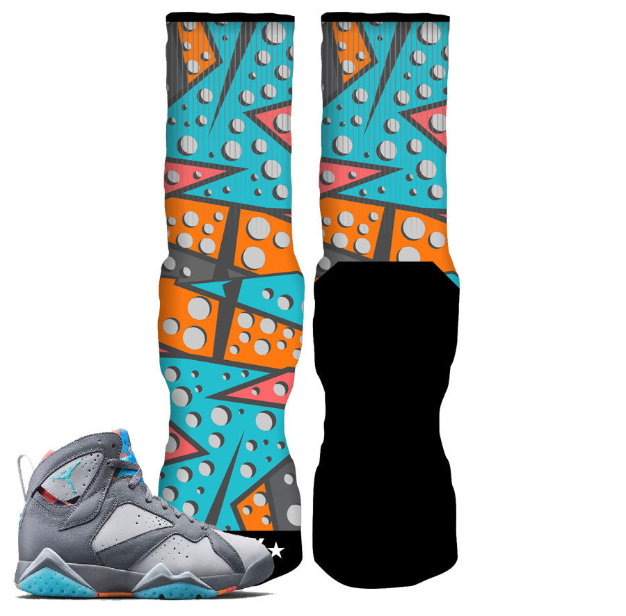 Jordan 7 Bobcat Barcelona Days Elite Socks - 7 Rufnek
