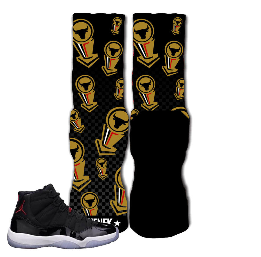 Elite socks match Jordan 11 72-10. Caution elite socks.