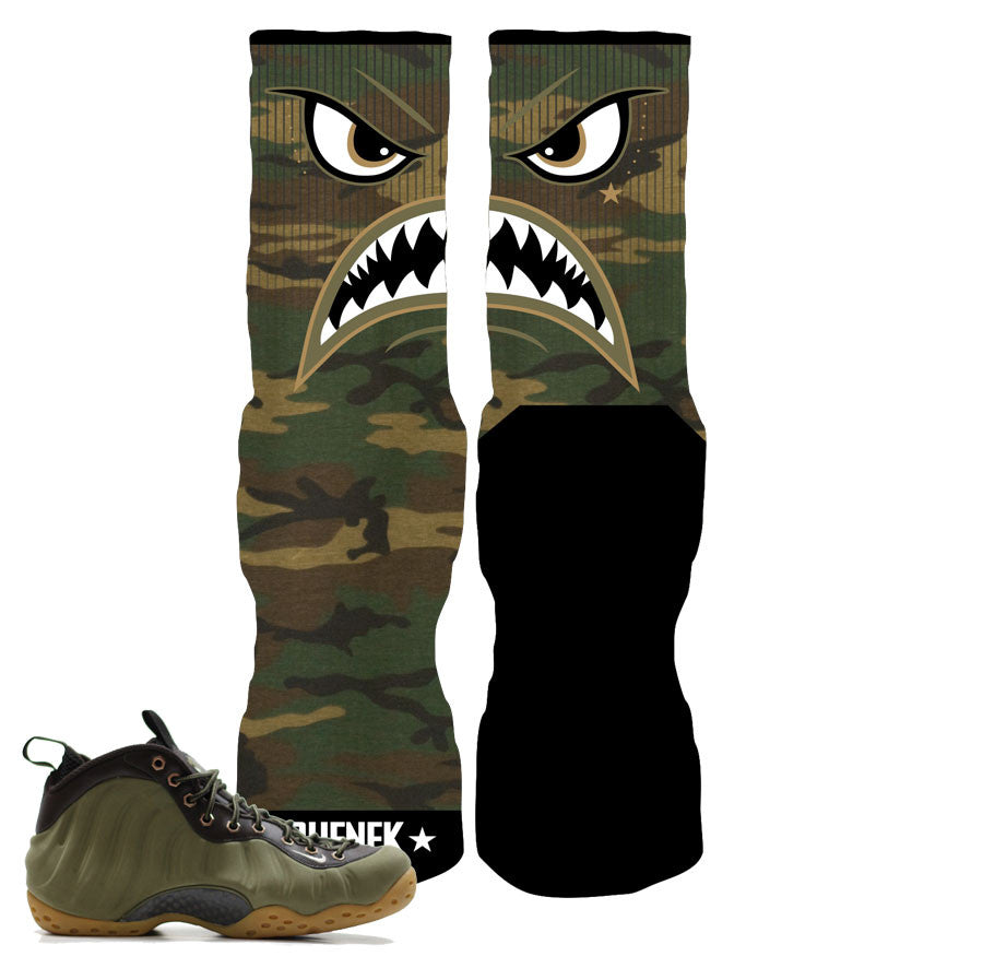 Foamposite Olive Elite Socks - Warface Camo