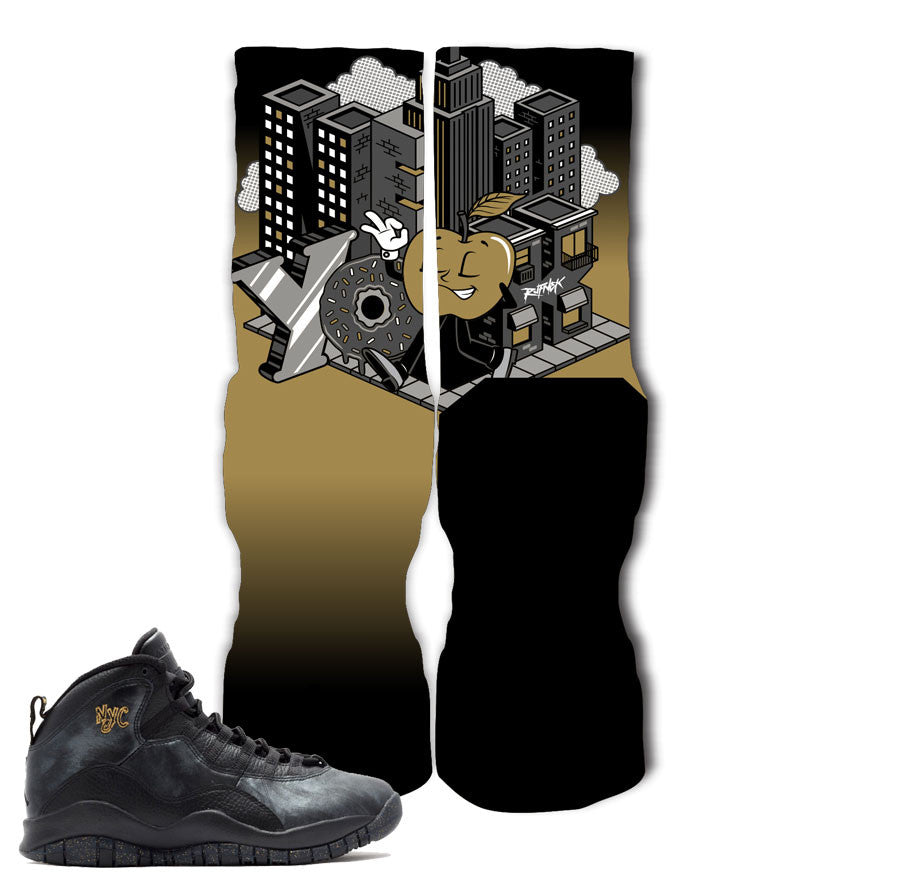 Jordan 10 NYC Socks - The Big Apple