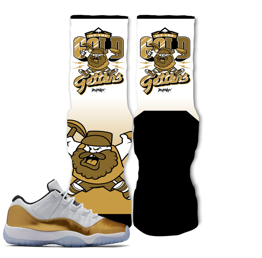 Jordan 11 Closing Ceremony Socks - Go Getters