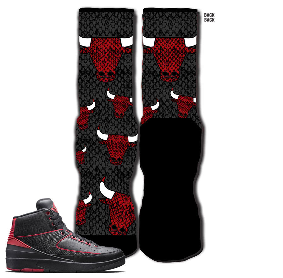 Jordan 2 Alternate 87 Socks - Snakeskin Bully