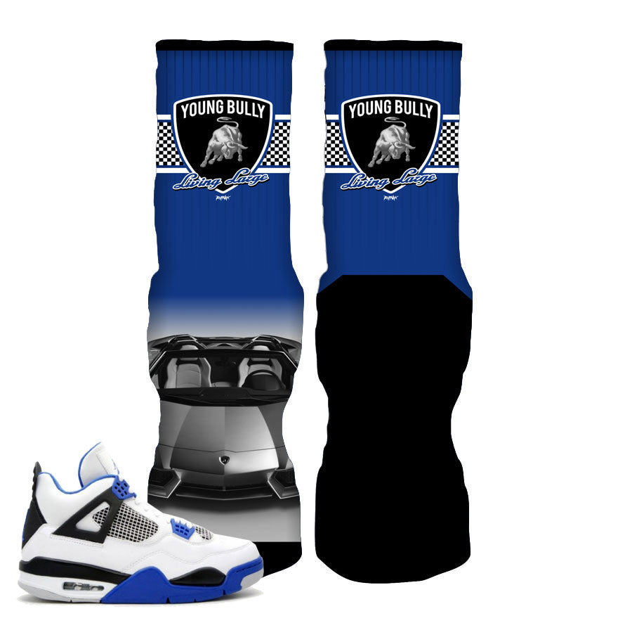 Jordan 4 motorsports elite socks match retro 4 sneakers.