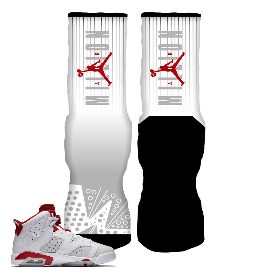 Jordan 6 Alternate Socks - MillionAir