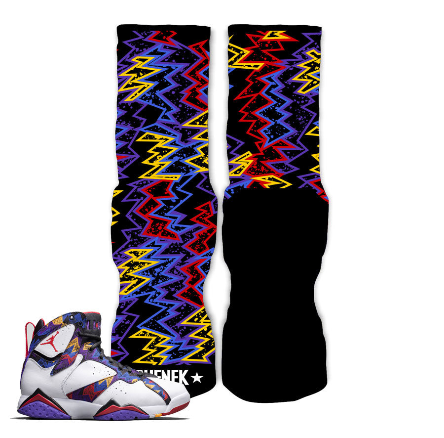 Elite socks match Jordan 7 nothing but net sneaker match retro 7 sock.