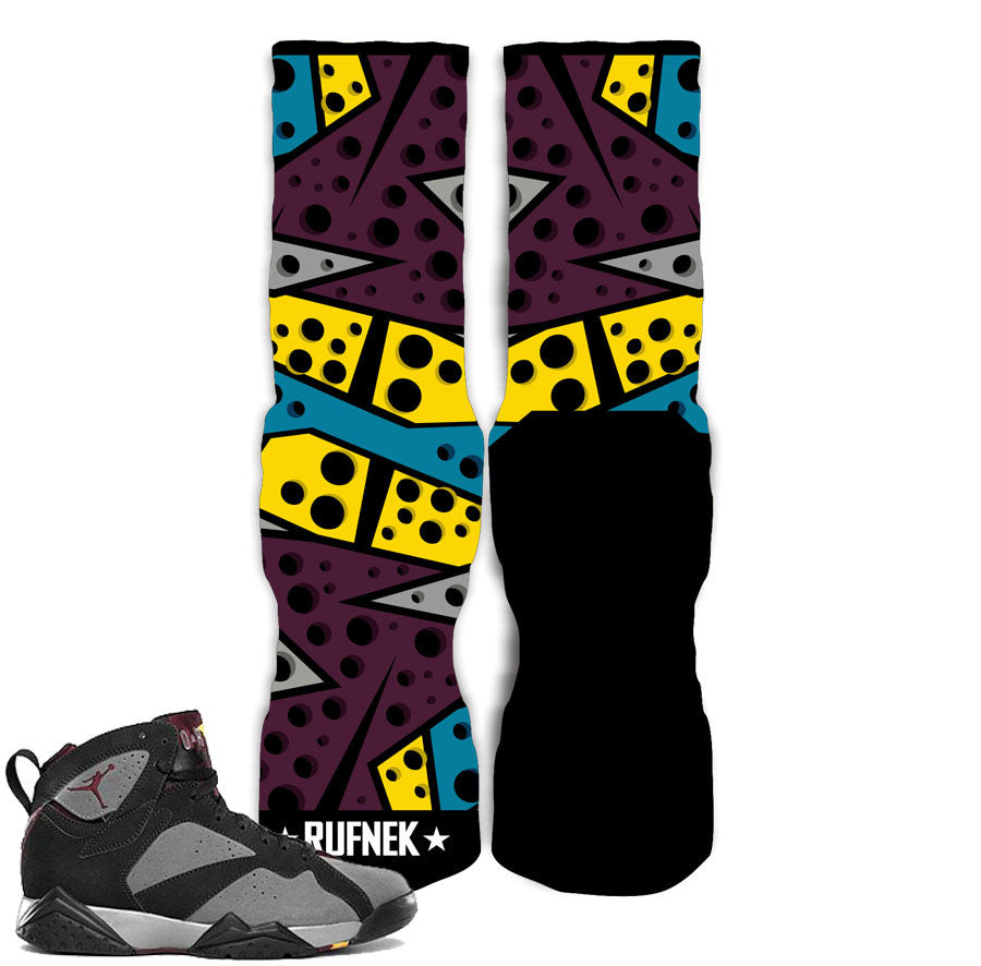 Jordan 7 Bordeaux Socks - SEVEN