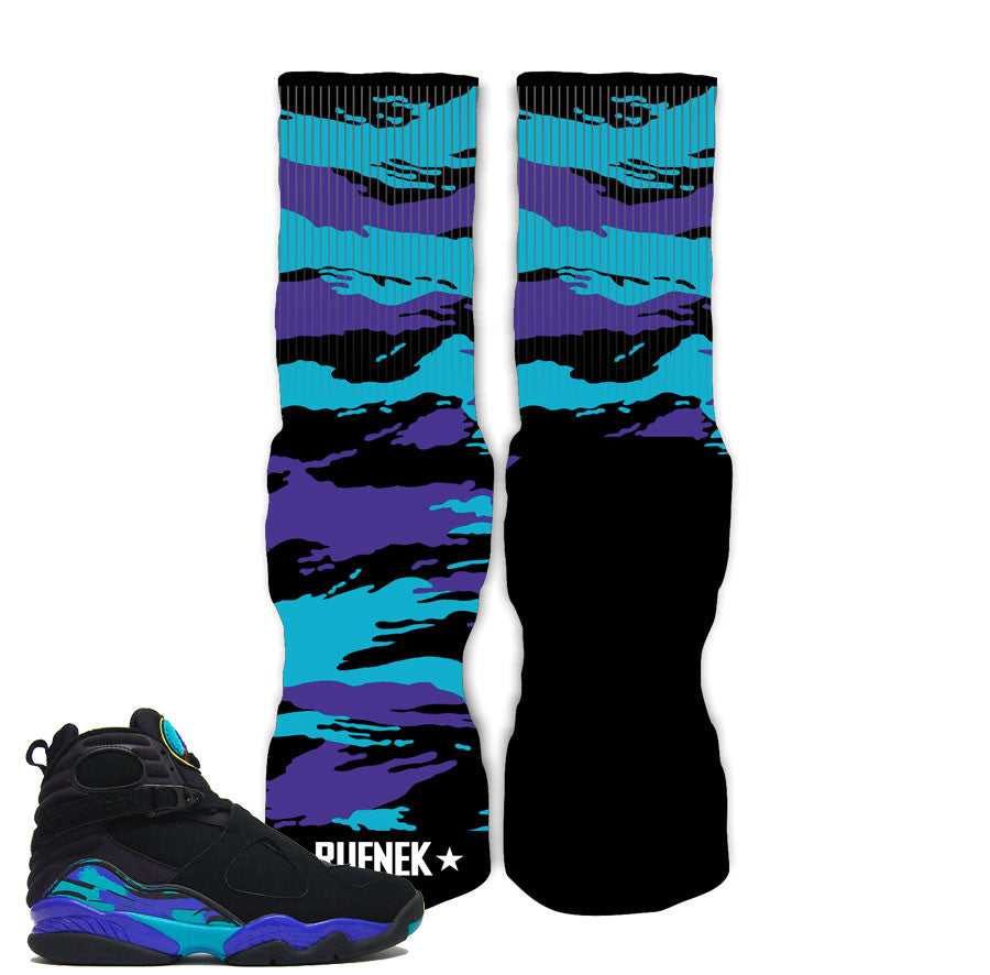 Jordan 8 aqua elite socks match shoes. Newest aqua 8 elite socks.