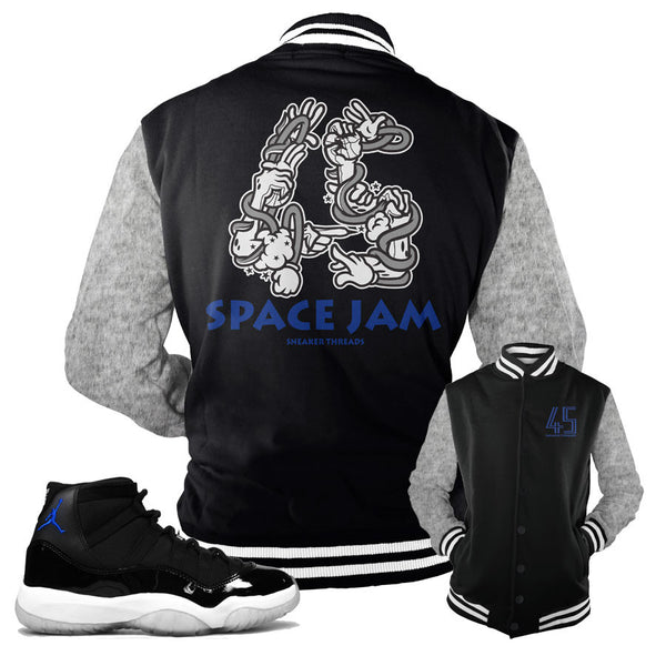 Jordan 11 Space Jam Jacket - Hands - Black