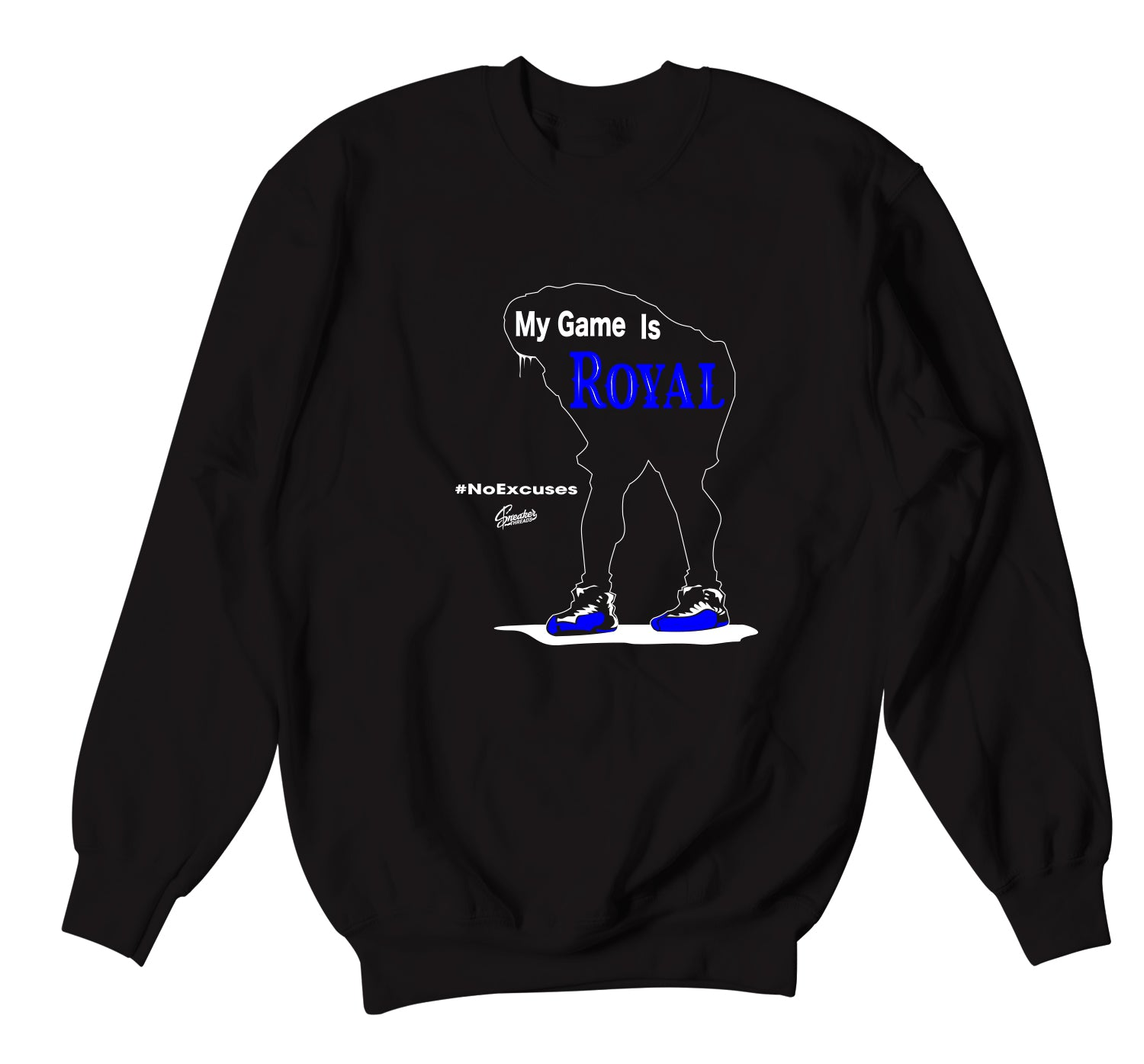 Jordan 12 game royal sneakers have matching Jordan crewneck sweaters