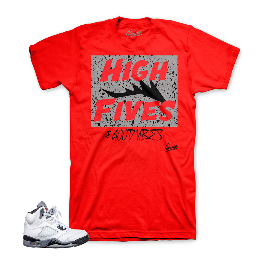 Jordan 5 cement shirt match retro 5s sneaker tee match cement 5.